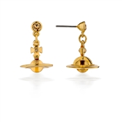 Vivienne Westwood Gold Petite Orb Earrings