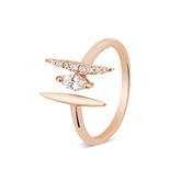 Argento Rose Gold Open Bar Ring