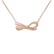 Argento Rose Gold Bow Necklace