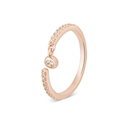 Argento Rose Gold Crystal Drop Ring