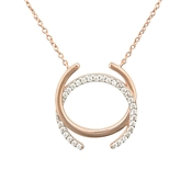 Argento Rose Gold Open Circle Necklace