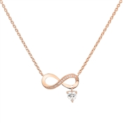 Argento Rose Gold Infinity Drop Necklace