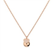 Argento Rose Gold Heart & Ball Necklace