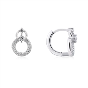 Argento Petite Circle Crystal Earrings