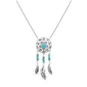Argento Turquoise Dreamcatcher Necklace