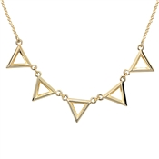Dirty Ruby Gold Triangle Necklace