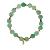Karma Frosted Green Beaded Bracelet