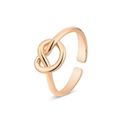 August Woods Rose Gold Knot Ring