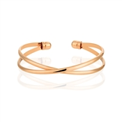 August Woods Rose Gold Interlinking Bangle