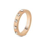 August Woods Rose Gold Crystal Detail Ring