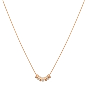 August Woods Rose Gold Crystal Circles Necklace