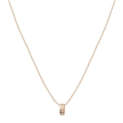 August Woods Rose Gold Crystal Hoop Necklace