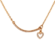 August Woods Rose Gold Curved Bar Necklace