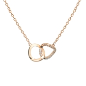 Dirty Ruby Rose Gold Interlinking Necklace