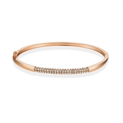 August Woods Rose Gold Crystal Detail Bangle