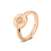August Woods Rose Gold Crystal Bolt Ring