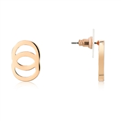 August Woods Rose Gold Interlinking Circles Studs