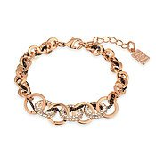 August Woods Rose Gold CZ Interlinked Circle Bracelet