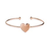 August Woods Rose Gold Heart Bangle