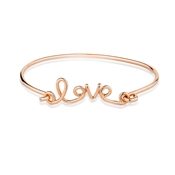 August Woods Rose Gold Love Script Bangle