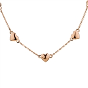 August Woods Rose Gold Hearts Necklace