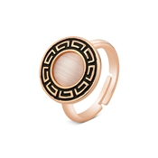 August Woods Rose Gold Pink Cateye Stone Ring