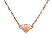 August Woods Rose Gold Petite Heart Necklace