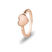August Woods Rose Gold Petite Heart Ring