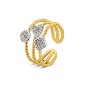 August Woods Silver & Gold Layered Ring