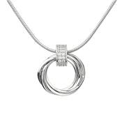 August Woods Silver Circle Detail Necklace