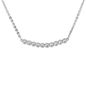 August Woods Silver Curved Bar Necklace