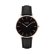 CLUSE La Bohème Rose Gold & Black Watch