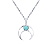 Argento Crescent Moon Turquoise Necklace