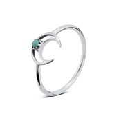 Argento Turquoise Crescent Moon Ring