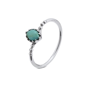 Argento Turquoise Oval Ring