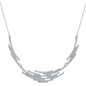 August Woods Silver Crystal Statement Necklace
