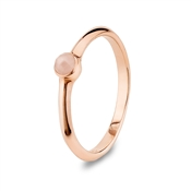 Argento Rose Quartz Stacking Ring