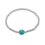 Argento Amazonite Stretch Bracelet