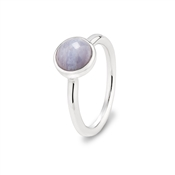 Argento Blue Agate Circle Ring