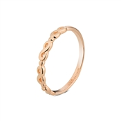 Argento Rose Gold Infinity Stacking Ring