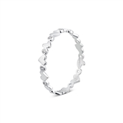 Argento Silver Heart Stacking Ring