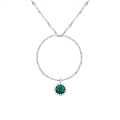 Argento May Birthstone Necklace