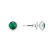 Argento May Birthstone Earrings