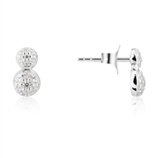 Argento Double Pave Stud Earrings