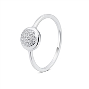 Argento Silver Pave Crystal Ring