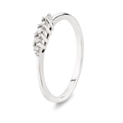 Argento Silver Encrusted Stacking Ring