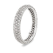Argento Silver Pave Band Stacking Ring