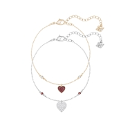 Swarovski Crystal Wishes Heart Bracelet Set