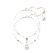 Swarovski Crystal Wishes Key Bracelet Set