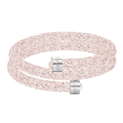 Swarovski Crystaldust Blush Pink Double Bangle (Medium)